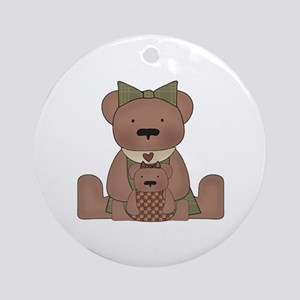 Teddy Bear With Teddy Ornament (Round)