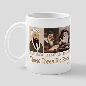 Three Rabbis Rock Mug