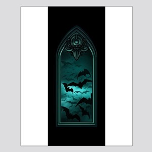 Gothic Bat Window 4 of 6 Small Poster