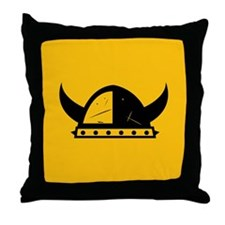 Viking Helmet Throw Pillow
