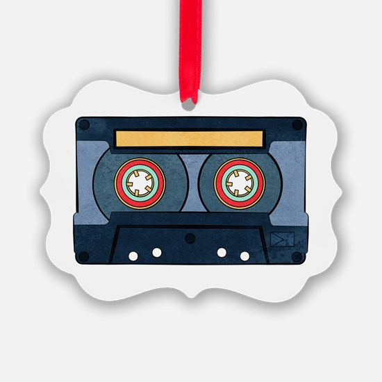 Blue Cassette Ornament