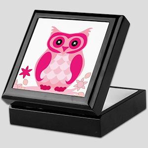 Pink Owl Keepsake Box