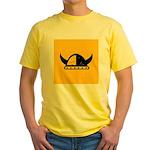 Viking Helmet Yellow T-Shirt