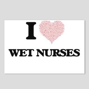 I love Wet Nurses (Heart Postcards (Package of 8)