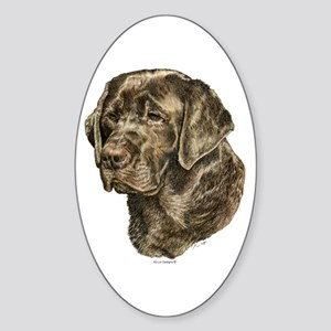 Labrador Retriever Dog Portrait Oval Sticker