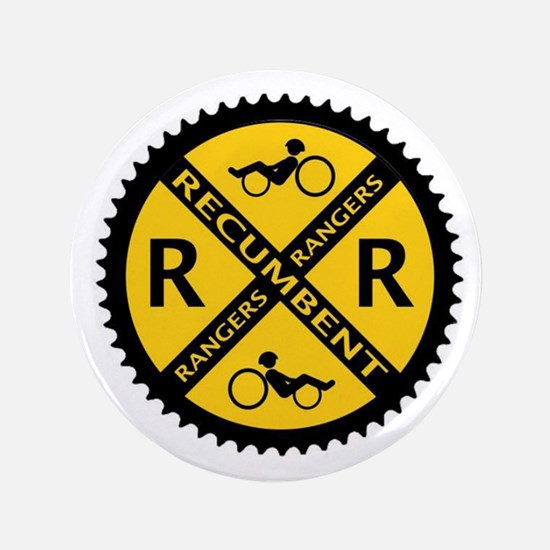 "Recumbent Rangers 3.5"" Button (100 pack)"