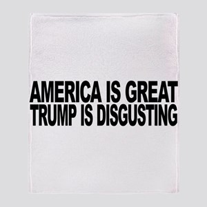 America Great Trump Disgusting Throw Blanket