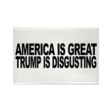 America Great Trump Disgusting Rectangle Magnet