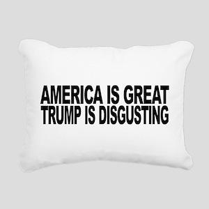 America Great Trump Disg Rectangular Canvas Pillow
