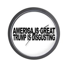 America Great Trump Disgusting Wall Clock