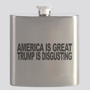 America Great Trump Disgusting Flask