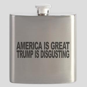 America Great Trump Disgusting Flask