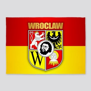 Wroclaw Coat of Arms 5'x7'Area Rug