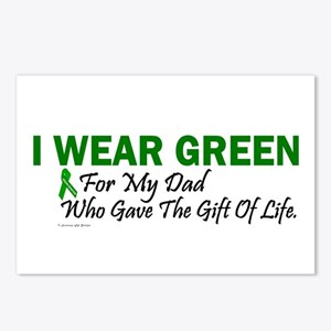 Green For Dad Organ Donor Donation Postcards (Pack