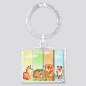 Season Of The Foxes Landscape Keychains