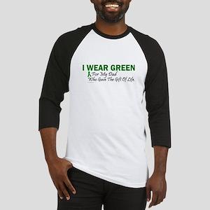 Green For Dad Organ Donor Donation Baseball Jersey
