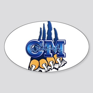 Central Mountain Wrestling 7 Oval Sticker