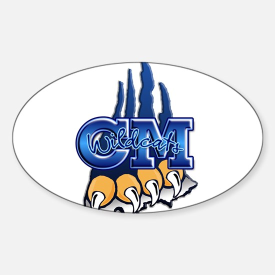 Central Mountain Wrestling 7 Oval Decal