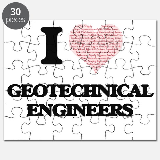 I love Geotechnical Engineers (Heart made f Puzzle