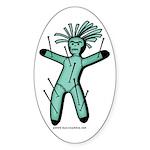 Voodoo Doll Sticker (Oval)