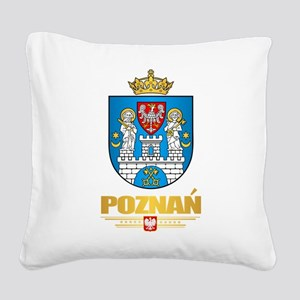 Poznan Square Canvas Pillow