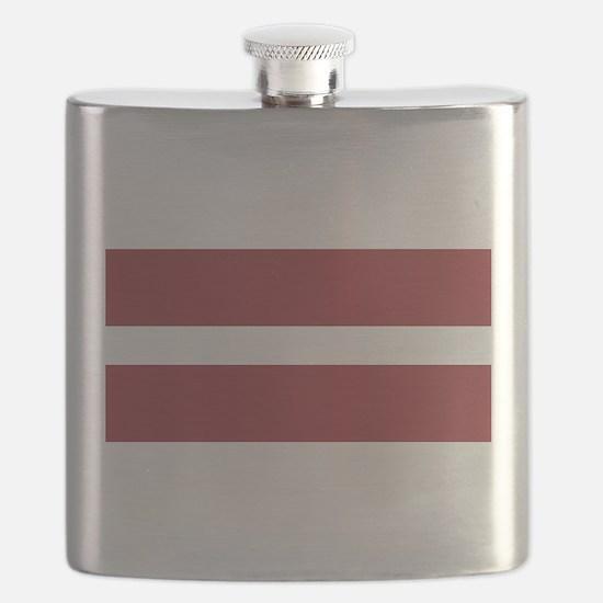Latvia Flag Flask