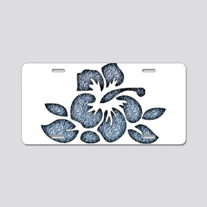Hawaiian Inspired Flower Aluminum License Plate