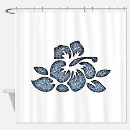 Hawaiian Inspired Flower Shower Curtain