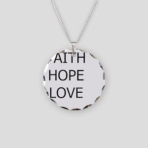 3-faith,hope Necklace