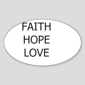 3-faith,hope Sticker