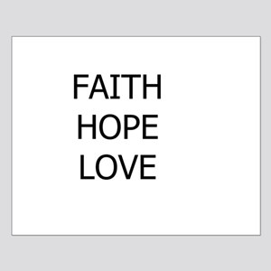 3-faith,hope Posters