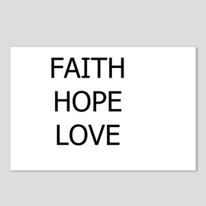 3-faith,hope Postcards (Package of 8)