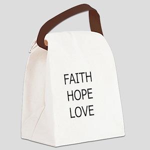 3-faith,hope Canvas Lunch Bag