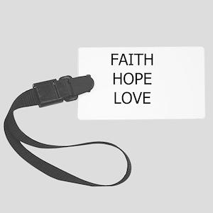 3-faith,hope Luggage Tag