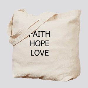 3-faith,hope Tote Bag