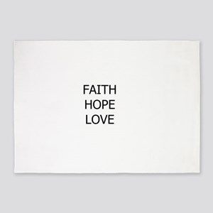 3-faith,hope 5'x7'Area Rug