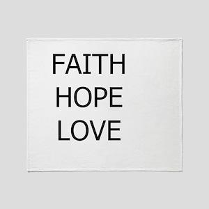 3-faith,hope Throw Blanket