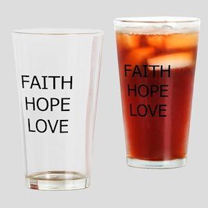 3-faith,hope Drinking Glass