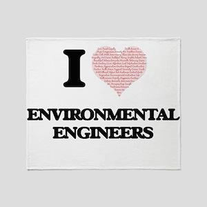 I love Environmental Engineers (Hear Throw Blanket