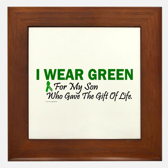 Green For Son Organ Donor Donation Framed Tile