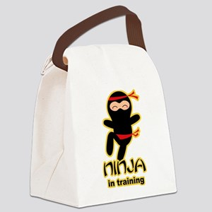 Ninja In Training Canvas Lunch Bag