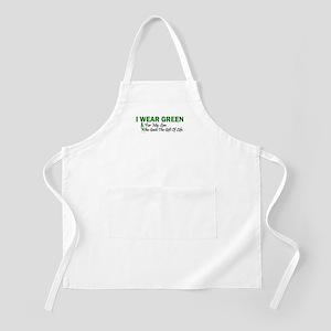 Green For Son Organ Donor Donation Apron