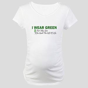 Green For Son Organ Donor Donation Maternity T-Shi