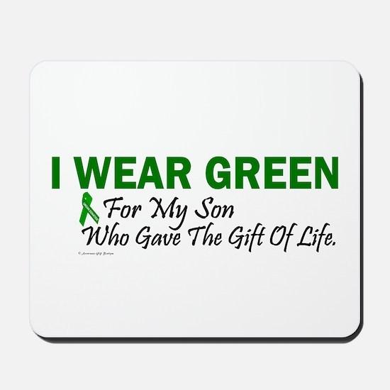 Green For Son Organ Donor Donation Mousepad