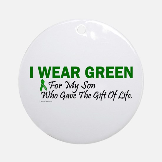 Green For Son Organ Donor Donation Ornament (Round