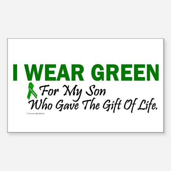 Green For Son Organ Donor Donation Decal