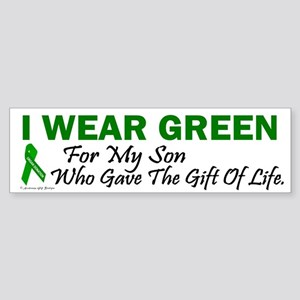 Green For Son Organ Donor Donation Sticker (Bumper