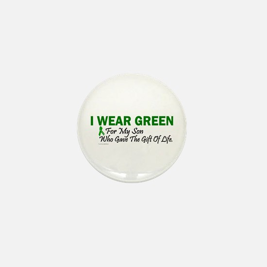 Green For Son Organ Donor Donation Mini Button