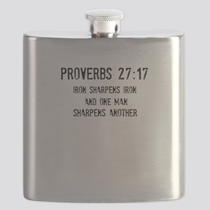 Proverbs 27:17 Flask