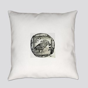 Owl of Athena Everyday Pillow